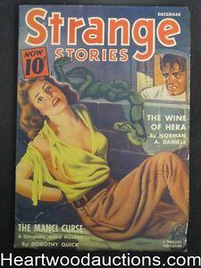 Strange Stories Dec 1940 Classic Wild, snake cover - High Grade