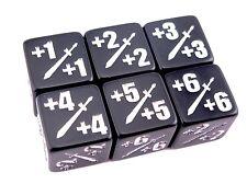 Premium D6 MTG +1/+1 Counter Dice - 6 Pack - Magic: The Gathering 6d6