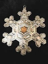 Gorham 1988 Christmas Ornament Sterling Silver Snowflake with Box