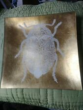 Decorative Gold Charger Scarab Scarabeus Ancient Egypt Egyptian Insect Bug Retro