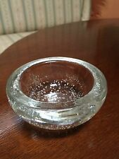 vintage 1940s Kaj Franck signed bubbles glass dish