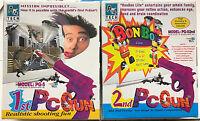 Rare Vintage PC Game w/BOTH 1st+2nd Guns PG-5 A4 Tech DOS Windows 95 Sealed/New!