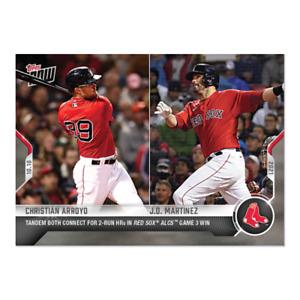 2021 Topps Now #985 Christian Arroyo J.D. Martinez Boston Red Sox PRESALE