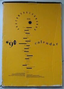 4AD Anatomy Calendar 1993 (Vaughan Oliver, V23,  XAD 2020)