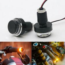 Motorcycle Turn Signal Light Grip Bar Plug Side Marker End LED Handlebar