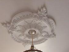 Plafond Rose Plâtre Traditionnel Victorien Pendentif 72cm Clair Décoration CR7