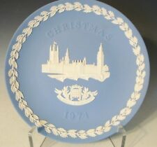 "Wedgwood Jasperware Col. Plate Christmas 1974 ""The Houses of Parliament"" (600)"