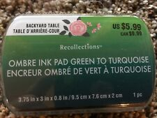 Green to Turquoise Ombre Ink Pad By Recollection 534746 NEW