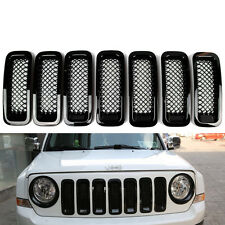 7x Front Grill Mesh Cover Grille Insert Kit Black For 2011-2016 Jeep Patriot #ya