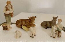 "Seraphim Classics Nativity - 4"" Figurines Shepherd, Cow, Sheep, etc New In Box"
