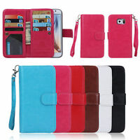 Luxury 9 Card Slot Flip Leather  Wallet Case Cover For Samsung Galaxy Models