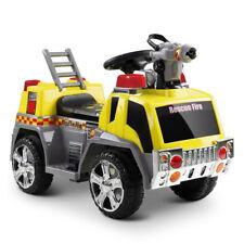 Rigo Kids Ride On Fire Truck Car Yellow
