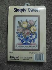 Counted Cross Stitch Kit Janlynn SIMPLY SWEET 14 HPI 7x55  Frame Included NEW