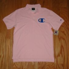 Champion Polo Shirt NWT Size M Pink Men's Big C Spellout