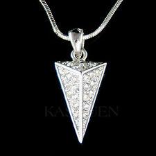 w Swarovski Crystal Modern Triangle Pyramid Jewelry Charm Pendant Chain Necklace