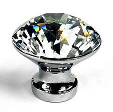 10pcs Diamond Crystal Glass Door Knobs Drawer Kitchen Cupboard Cabinet Furniture