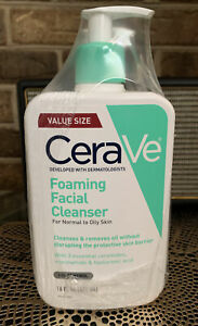 X3 CeraVe Foaming Facial Cleanser for Normal to Oily Skin  16 Oz Each