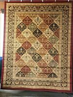 Red Designer Floral 8x10 area rug for the home New!~ Just Beautiful ROOM SIZE