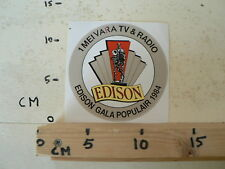 STICKER,DECAL VARA EDISON GALA POPULAR 1984 1 MEI VARA TV EN RADIO
