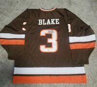 Rob Blake Signed Bowling Green Falcons(LA Kings HOF) Jersey BAS...Ultra Rare