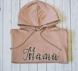 Personalised Mama Hoodie (Mum, Mummy, custom, gift, cool, parent, top, unique)