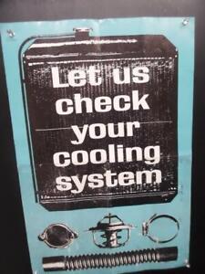 1964 Let Us Check Your Cooling System General Motors Service Dept Poster Vintage