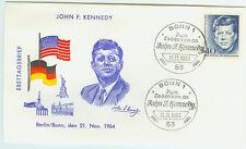 BRD FDC Ersttagsbrief 1964 John F. Kennedy Mi.Nr.453