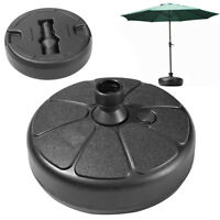 "15"" Patio Umbrella Base Heavy Duty PE Stand Outdoor Yard Beach Market  Holder"