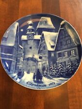 The German Christmas Plate 1971 #1 Limited Edition Rothenburg On Tauber