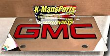 GMC tag stainless steel chrome mirror vanity license plate