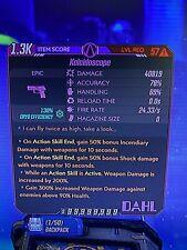 Modded Kaleidoscope Pistol Infinity Ammo High Dmg Borderlands 3 Xbox