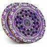 2 x Coasters - Pretty Purple Mandala Indian Home Gift #2716