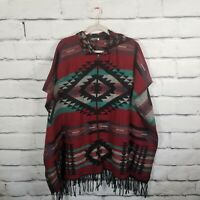 EARTHBOUND TRADING CO. Women's Size Small Poncho Jacket Aztec Southwest Full Zip