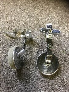 A Pair Of Vintage Sonor Signature External Clip On Dampener Muffler Tone Control