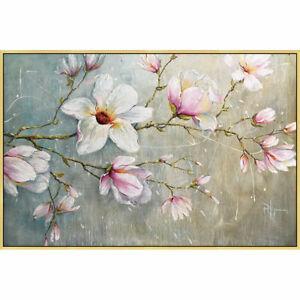 "YA703 Wall decor Canvas FLOWER Magnolia 100% Hand-painted Unframed 24""x36"""