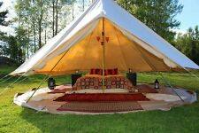 4m Canvas Bell Tent Heavy Duty Luxury Camping Tent Sibley Tent