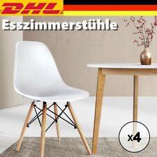 Essgruppe Esszimmerstühle Wohnzimmer Büro Stühle Küchenstuhl Weiß Kunststoff