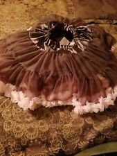 Brown and Pink Pettiskirt Tutu Photo New Dance Dress Up Size M or L 4 5 6 7 8 10