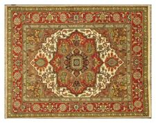 8x10 ft Wool Serapi Bedroom Authentic Handmade Ivory Lowest Price Area Rug