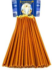 "150 Natural Beeswax Taper Candles 11"" Pure Wax Scented Jerusalem Church Candles"