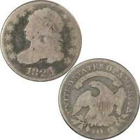 1824 4 Over 2 Flat Top Capped Bust Dime AG About Good 89.24% Silver 10c US Coin