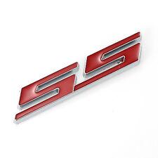 "3D Red ""SS"" Side Fender Trunk Emblem Badge Decal For Chevy IMPALA COBALT Camaro"