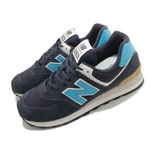 New Balance 574 Navy Blue Ivory White Men Classic Casual Shoe Sneaker ML574MS2 D