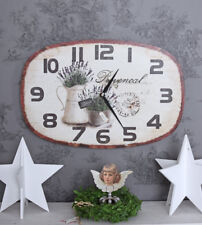 Kitchen Clock Watch France Deco Country House Style Wall Provence Lavender