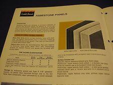 GOLD BOND 1972 Catalog ASBESTOS Wall Systems Asbestone Panels