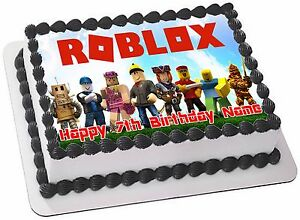 ROBLOX  EDIBLE  ICING  CAKE TOPPER PARTY IMAGE FROSTING SHEET