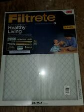3 pack Filtrete Elite Allergen Reduction Filter 2200 Healthy Living Mpr 20X25X1