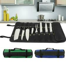 22 Slot Chef Knife Bag Roll Carry Case Portable Kitchen Cooking Storage Pouches