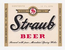 Straub Beer Label