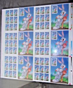 US 3137 @ (1997) 32c - MNH - Bugs Bunny  uncut press sheet of 60 w/plate #